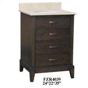 """Kensington 3 Drawer 24"""" Vanity Sink Product Image"""