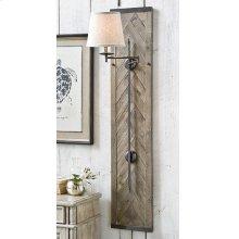 Wood Panel Herringbone Swing Arm Sconce