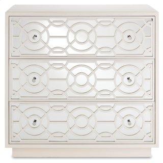 Alisa Three-Drawer Chest, Marshmallow - 33.25h x 34w x 19d