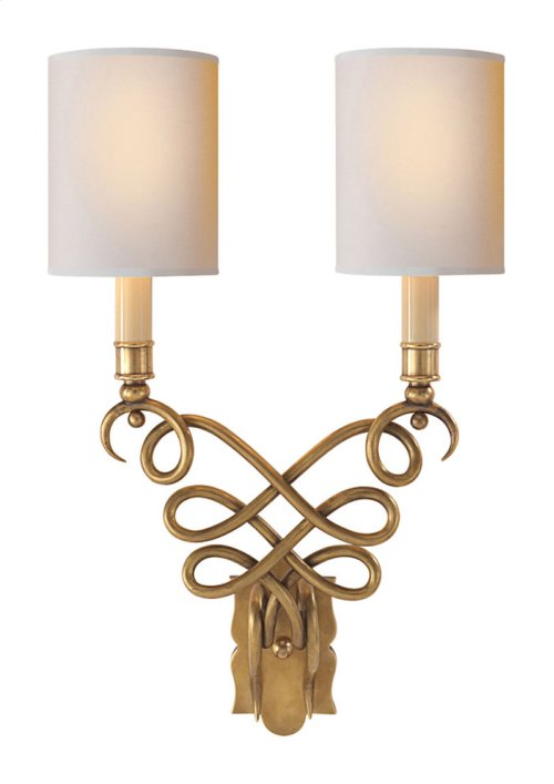 Visual Comfort SC2160HAB-NP Eric Cohler Catherine 2 Light 13 inch Hand-Rubbed Antique Brass Decorative Wall Light