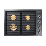 """Dacor30"""" Gas Cooktop, Graphite Stainless Steel, Natural Gas"""