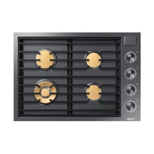 "Dacor30"" Gas Cooktop, Graphite Stainless Steel, Natural Gas"