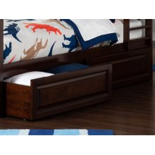 Two Raised Panel Bed Drawers Twin/Full in Walnut