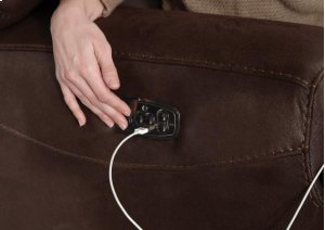 Power Headrest Power Lay Flat Reclining Console Loveseat
