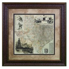 Map Lonesome Dove Trail
