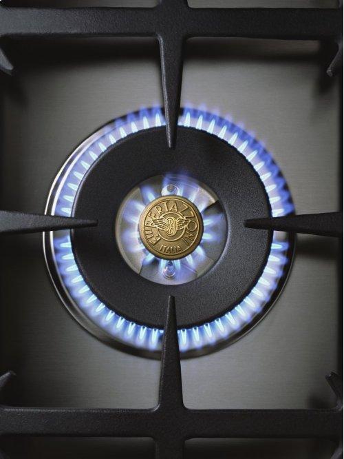 36 6-Burner, Gas Oven Matt Black