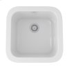 White Allia Fireclay Single Bowl Bar/Food Prep Sink