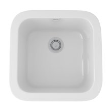 White Allia Fireclay Single Bowl Bar/Food Prep Sink