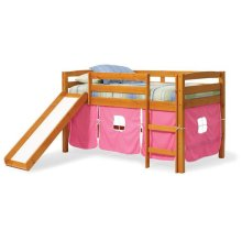 Pine Ridge Tent Bed with Slide with options: Honey Pine, Pink