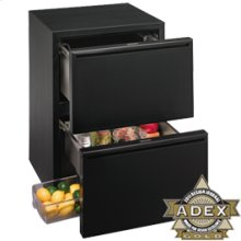 "Black Option with Black Integrated handle 2000 Series / 24"" Refrigerator Drawer Model"