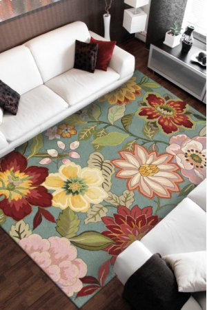 Fantasy Fa18 Aqu Rectangle Rug 3'6'' X 5'6''