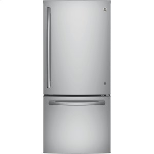 GE(R) ENERGY STAR(R) 21.0 Cu. Ft. Bottom-Freezer Refrigerator - STAINLESS STEEL