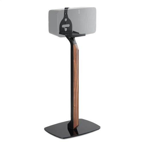 Black- Sophisticated and secure floor stand.