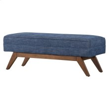 Newton Fabric Bench, Blue Coast