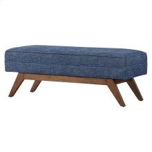 Newton Fabric Bench, Blue Coast