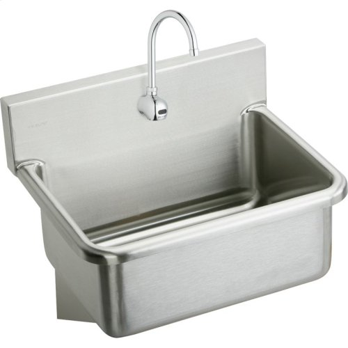 """Elkay Stainless Steel 25"""" x 19.5"""" x 10-1/2"""", Wall Hung Single Bowl Hand Wash Sink Kit"""
