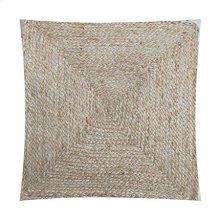 """Rowan Braided Natural Fiber Square Pillow (22"""" X 22"""")"""