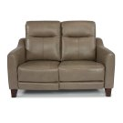 Forte Leather Power Reclining Loveseat with Power Headrests Product Image