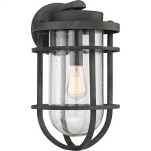 Boardwalk Outdoor Lantern in Mottled Black