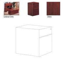 OFFICE DESK PEDESTAL CHERRY , 15.25X28.5X19