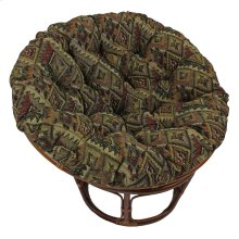 Bali 42-inch Indoor Fabric Rattan Papasan Chair - Walnut/San Carlos
