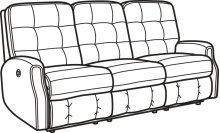 Devon Fabric Power Reclining Sofa without Nailhead Trim