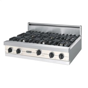"Oyster Gray 36"" Sealed Burner Rangetop - VGRT (36"" wide, six burners)"