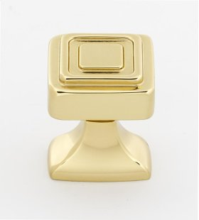 Cube Knob A985-1 - Polished Brass