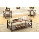Occasional Table Sets Transitional Faux Marble Three-piece Set Product Image