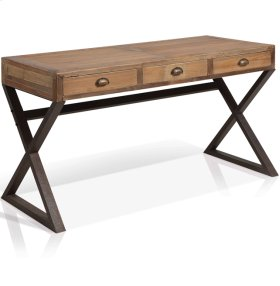 """Olie - """"x"""" Base Desk With 3 Drawers"""