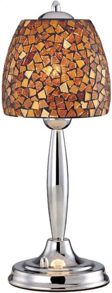 Table Lamp, Chrome/amber Mosaic Shade, Type B 60w