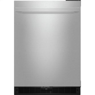"NOIR(TM) 24"" Under Counter Solid Door Refrigerator, Right Swing, NOIR"