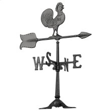 "24"" Rooster Accent Weathervane - Black"