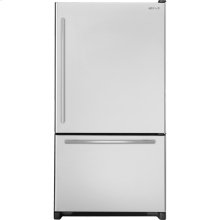 """69""""(h) Cabinet Depth Bottom-Mount Right Hand Door Swing Refrigerator with Internal Dispenser, Euro-Style Stainless Handle"""