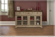 3 Drawer, 4 Glass Doors Console
