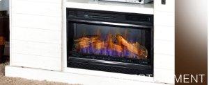 "Barn Door TV Console/ Fire Place (26""FB)"