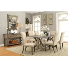 Webber Rustic Driftwood Five-piece Dining Set