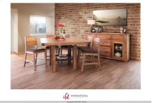 Wooden Counter Height Table - KD System