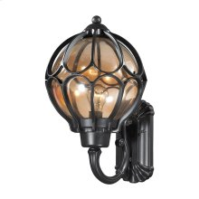 Madagascar 1-Light Outdoor Wall Lamp in Matte Black