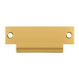 """ANSI Blank T- Strike, 4 7/8"""" x 1 1/4"""", Without Hole - PVD Polished Brass"""
