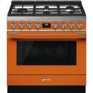 """Portofino Pro-Style Gas Range, Orange, 36"""" x 25"""" Product Image"""