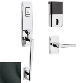 Satin Black Evolved Palm Springs 3/4 Escutcheon Handleset