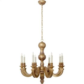 Visual Comfort AH5025WGL Alexa Hampton Dexter 8 Light 26 inch Weathered White and Gold Chandelier Ceiling Light