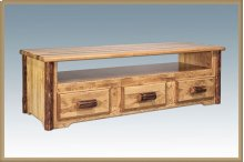 Glacier Country Log Sitting Chest / Entertainment Center