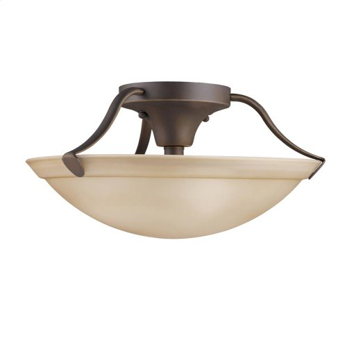 3 Light Semi Flush Ceiling Light NI