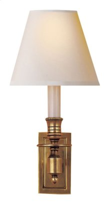 Visual Comfort S2210HAB-NP Studio French 1 Light 6 inch Hand-Rubbed Antique Brass Decorative Wall Light in Natural Paper