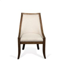 Hawthorne Upholstered Hostess Chair Barnwood finish