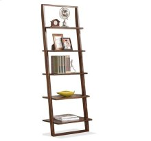 Lean Living Leaning Bookcase Burnished Brownstone finish