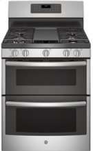 """30"""" Free-Standing Double Oven Gas with Convection and Self-Cleaning w/Steam Clean Range Product Image"""