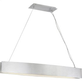 Silver Edge Island Chandelier in Brushed Aluminum